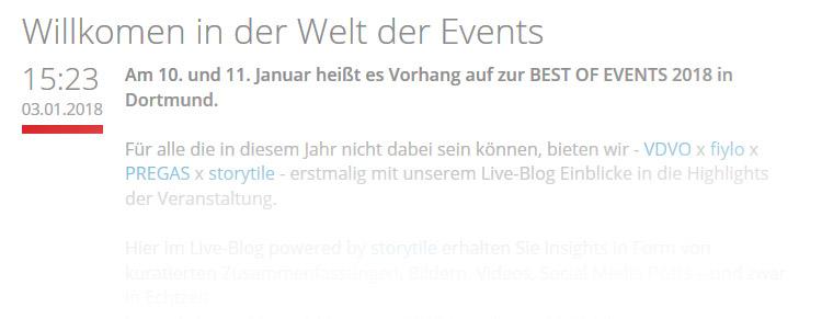 Teaser Best of Events Live-Blog